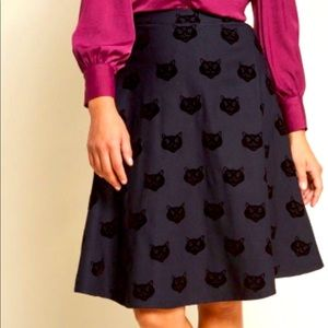NWT Collectif black cat swing skirt 🐈⬛
